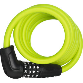 ABUS Numero 5510 Combi Spiraal Kabelslot 180cm SCMU, lime green